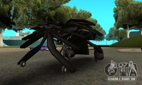 The Dark Knight Rises BAT v1 para GTA San Andreas vista direita