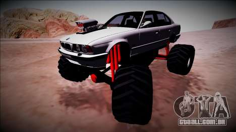 BMW M5 E34 Monster Truck para GTA San Andreas vista superior