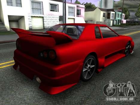 Elegy PFR v1.0 para GTA San Andreas esquerda vista