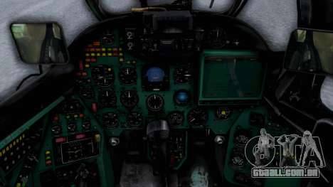 Mi-24V Sri-Lanka Air Force CH621 para GTA San Andreas vista traseira