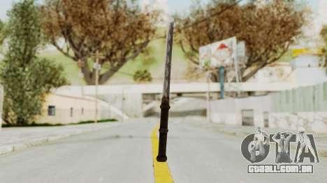 Skyrim Iron Tanto para GTA San Andreas segunda tela