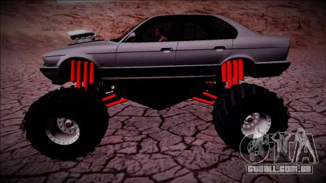 BMW M5 E34 Monster Truck para GTA San Andreas esquerda vista