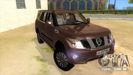Nissan Patrol 2016 para GTA San Andreas vista traseira