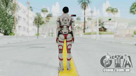 ME 1 Ashley Williams Default White Armor para GTA San Andreas terceira tela