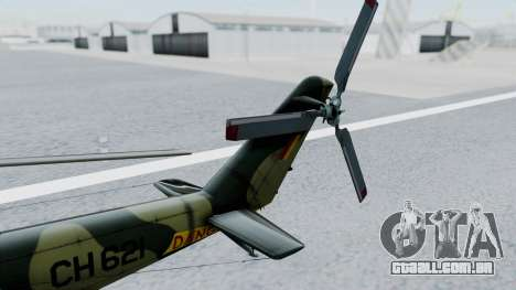 Mi-24V Sri-Lanka Air Force CH621 para GTA San Andreas vista direita