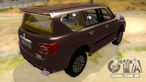 Nissan Patrol 2016 para GTA San Andreas vista direita