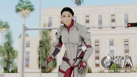 ME 1 Ashley Williams Default White Armor para GTA San Andreas