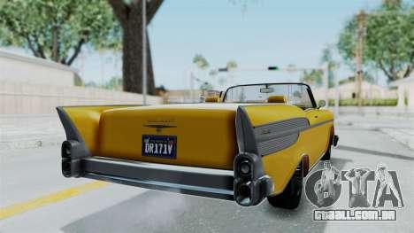GTA 5 Declasse Tornado Bobbles and Plaques IVF para GTA San Andreas traseira esquerda vista