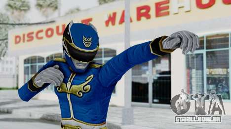 Power Rangers Megaforce - Blue para GTA San Andreas