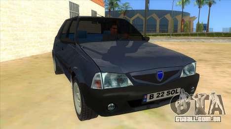Dacia Solenza V2 para GTA San Andreas vista traseira