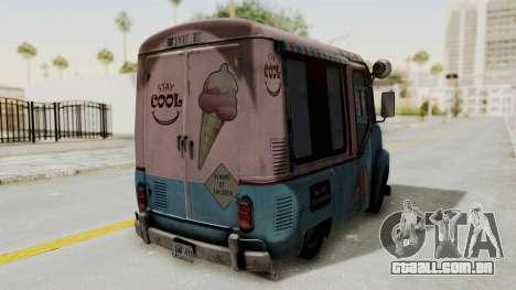 Hitman Absolution - Ice Cream Van para GTA San Andreas vista traseira