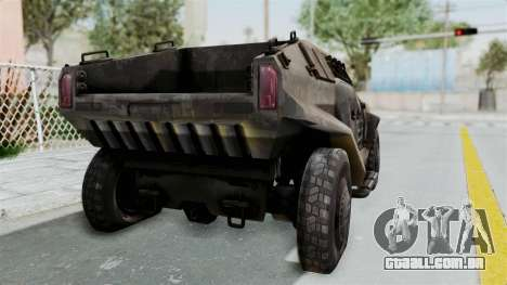 PITBULL from CoD Advanced Warfare para GTA San Andreas traseira esquerda vista