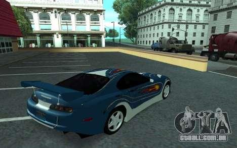 Toyota Supra Tunable para GTA San Andreas vista superior