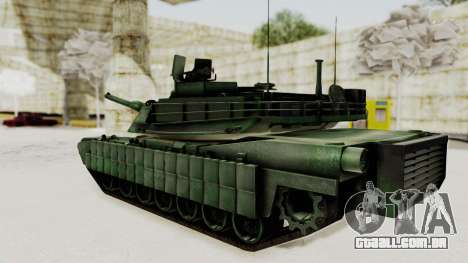 M1A2 Abrams Woodland Croatian para GTA San Andreas esquerda vista