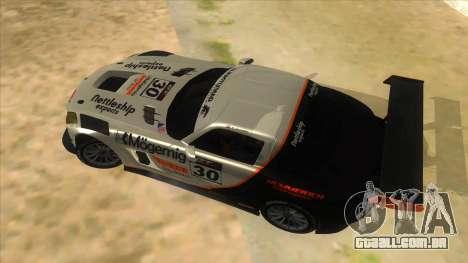Mercedes Benz SLS AMG GT3 para vista lateral GTA San Andreas