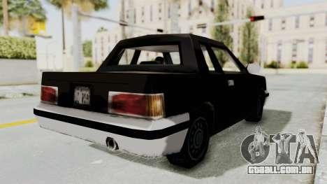 GTA 3 Manana para GTA San Andreas traseira esquerda vista