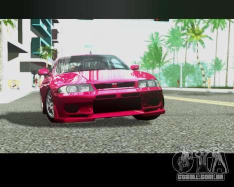 Nissan R33 GT-R Tunable para vista lateral GTA San Andreas