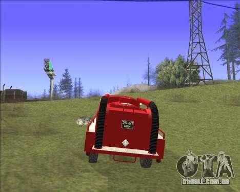 GAZ 63 de bombeiros para GTA San Andreas vista interior
