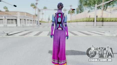 Mass Effect 1 Shaira Dress para GTA San Andreas terceira tela