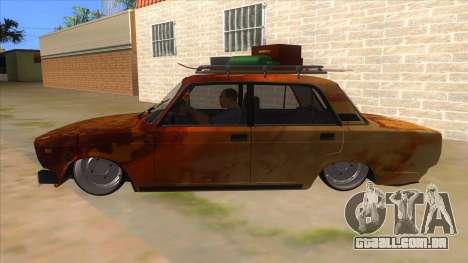 VAZ 2107 Enferrujado Gringo para GTA San Andreas esquerda vista