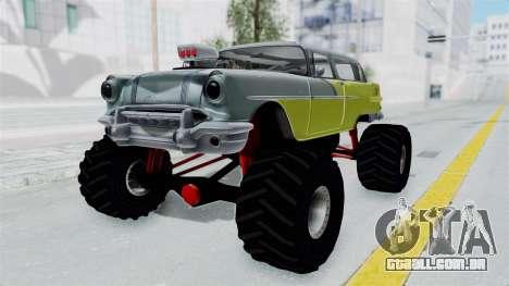 Pontiac Safari 1956 Monster Truck para GTA San Andreas vista direita