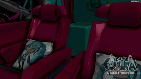 Toyota Vellfire Miku Pocky Exhaust Final Version para GTA San Andreas vista traseira