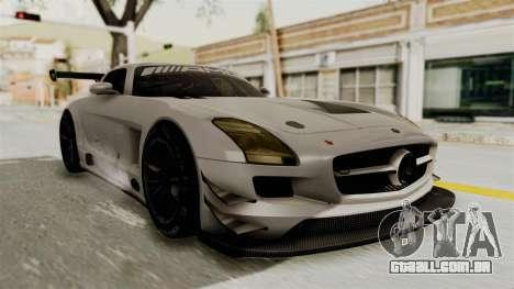 Mercedes-Benz SLS AMG GT3 PJ3 para GTA San Andreas traseira esquerda vista