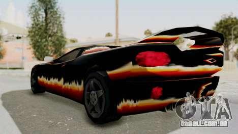 GTA 3 Diablos Infernus para GTA San Andreas esquerda vista