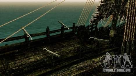 Flying Dutchman 3D para GTA San Andreas vista traseira