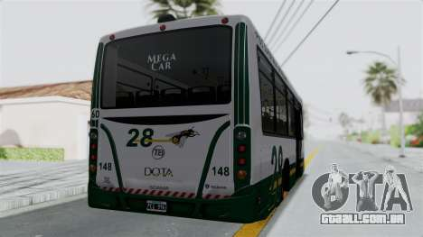 TodoBus Pompeya II Scania K310 Linea 28 Trailer para GTA San Andreas esquerda vista