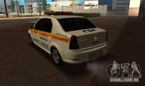 Renault Logan Security Service para GTA San Andreas esquerda vista