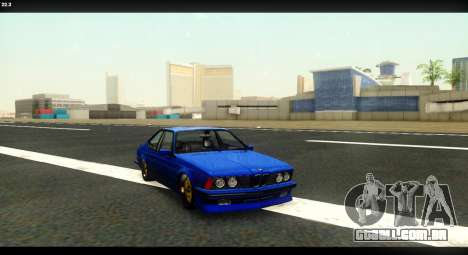 BMW M635 CSi (E24) para GTA San Andreas vista traseira