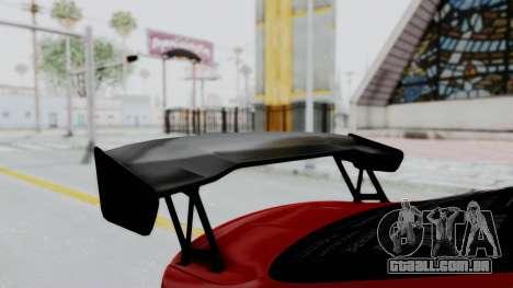BMW M4 F82 Race Tune para GTA San Andreas vista traseira