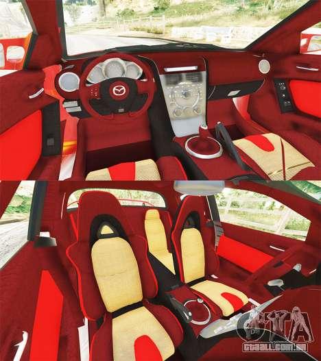 GTA 5 Mazda RX-8 2004 traseira direita vista lateral