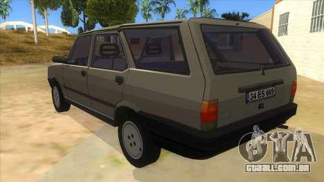 Kartal 2007 69 Serisi para GTA San Andreas traseira esquerda vista