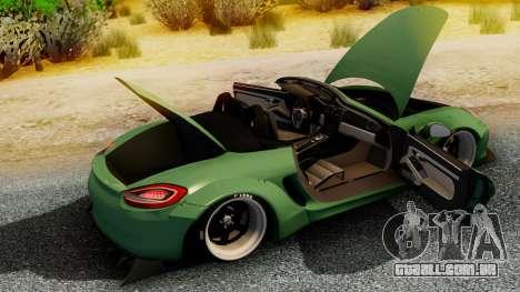Porsche Boxster GTS LB Work para GTA San Andreas traseira esquerda vista