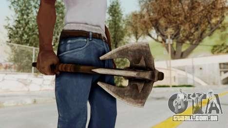 Skyrim Iron Mace para GTA San Andreas terceira tela