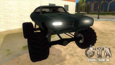 1969 Pontiac GTO Monster Truck para GTA San Andreas vista traseira