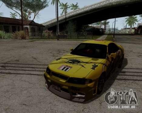 Nissan R33 GT-R Tunable para GTA San Andreas vista superior