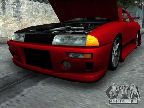 Elegy PFR v1.0 para GTA San Andreas vista inferior