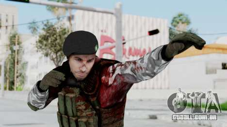 Black Mesa - Wounded HECU Marine Beret para GTA San Andreas