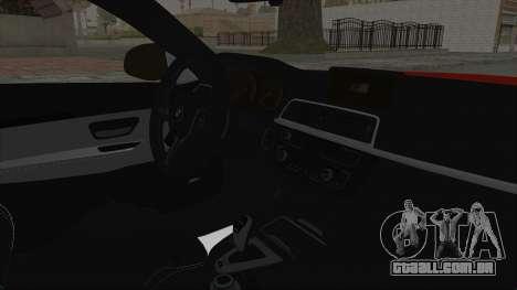 BMW M4 F82 Race Tune para GTA San Andreas vista direita