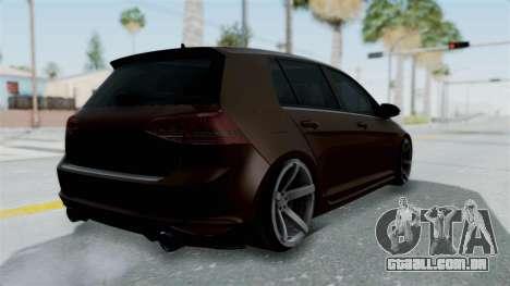 Volkswagen Golf 7 Stance para GTA San Andreas esquerda vista