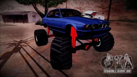 BMW M5 E34 Monster Truck para GTA San Andreas vista inferior