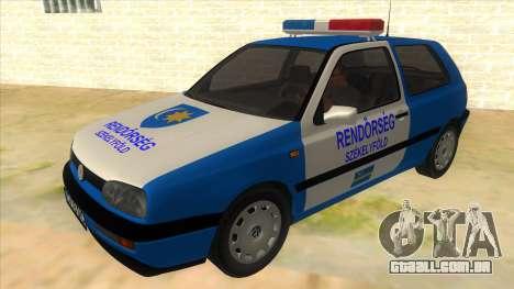 Volkswagen Golf 3 Police para GTA San Andreas