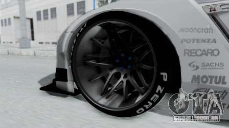 Nissan GT-R R35 2010 Liberty Walk para GTA San Andreas traseira esquerda vista