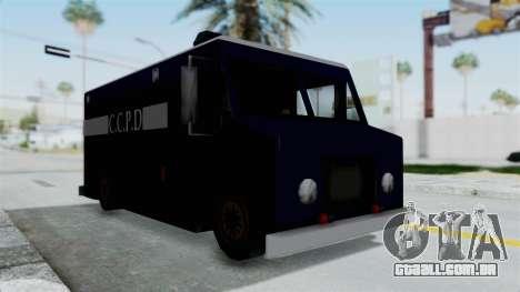 CCPD Boxville from Manhunt para GTA San Andreas vista direita
