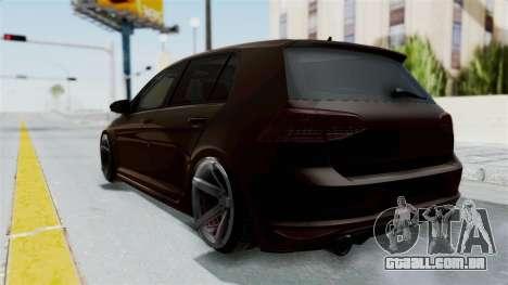 Volkswagen Golf 7 Stance para GTA San Andreas traseira esquerda vista