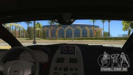 2015 Aston Martin Vantage GT12 para GTA San Andreas vista interior