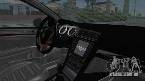 Volkswagen Golf 7 Stance para GTA San Andreas vista interior